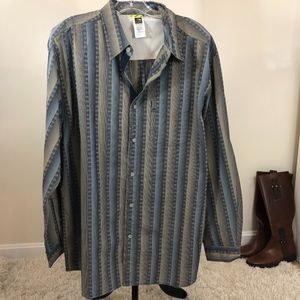 The North Face Large Striped Long Sleeve Shirt